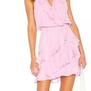 Parker Cosma Ruffle Front Pink Mini Dress XS
